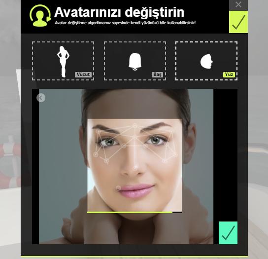 Avatar olrak yüzünü kullan